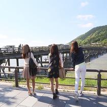 朝散策_渡月橋