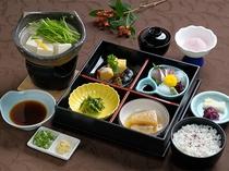 ランチストップ(松花堂+湯豆腐)