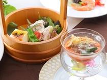 京フレンチ(夏) アミューズ、スープ