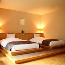 【ヨーロピアンリゾート風洋室「ひめ」】心地よいポプリの香りに包まれ、シモンズのベッドでリラックス