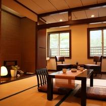 【和寝室風和室「げんじ」】温かな灯り、落着いた雰囲気のくつろぎの空間。『眠り』にこだわり寝具を充実