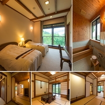 御前 ツイン+和室12.5畳+6畳+檜風呂