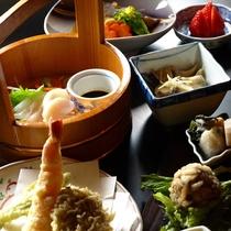 10 [料理] 夕食(3):旬の魚介を使った特別プランも