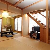 01 [10帖和室] ながつき(2):露天風呂への階段
