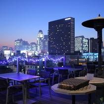 【13階ルーフトップバー&テラスG】新宿の街を眺めながら、緑とお酒を楽しむことが出来ます。
