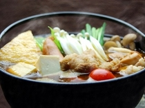 ご夕食は体が温まる特製のお鍋をご用意しております*