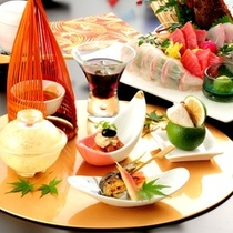 ■【グレードアップ夕食一例】美味しい空気に美味しい水、熊本の豊かな自然が育んだ新鮮な食材。