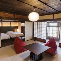【藤】1~5名(2階) 金砂の砂壁が残る趣ある一室で心静かに過ごすひととき