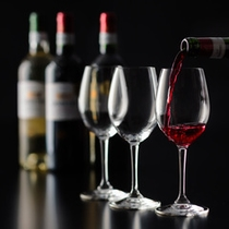 ワインをはじめ、地元酒蔵の銘酒「竹泉」など、多彩なお飲物をお楽しみいただけます。