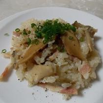 信州産 きのこ&松茸を使った 洋風ごはん