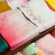 *色浴衣/カラフルな浴衣の中からお好きなものをお選びください。色浴衣を着るだけで気分が違います♪