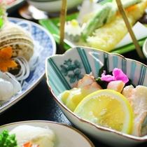 夕食の一例。富山湾 氷見の味 キトキト海の幸♪