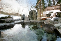 露天風呂冬