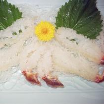*越前カニ料理一例/絶品、かに刺し♪越前かに専門店で安心の美味しさを。