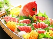 料理(金目鯛のお造り)