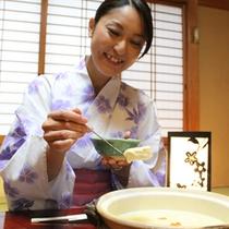 【ご夕食/ふわふわ豆腐】おいしい夕食を堪能!