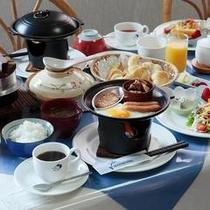 和洋折衷の朝食(一例)