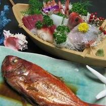 舟盛り&大きな金目鯛の姿煮