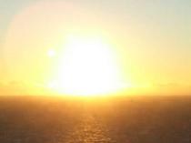 秋の夕日 綺麗なオレンジでパワーがもらえます♪