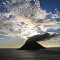 八丈小島の黄昏