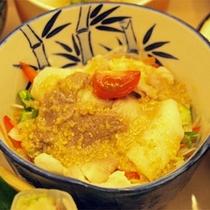 *【夕食一例/猪肉冷しゃぶ】
