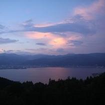 諏訪湖 夕日