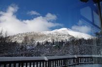 ラウンジからの車山の眺望