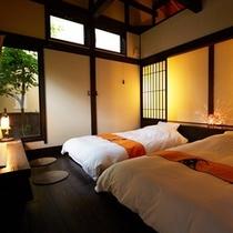 川のせせらぎ|寝室ベッド