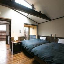 【内湯風呂付き】ベッドお部屋イメージ