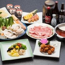 【2食鍋】塩麹味と豆板醤胡麻味噌味2色鍋♪一度に2種類の味が楽しめてお得ですよ^^