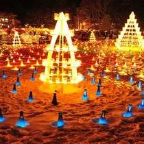 上杉雪灯篭祭り キャンドルゾーン
