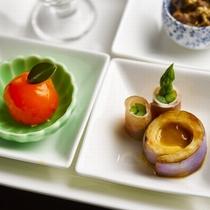 【季節替わりの料理】前菜一例