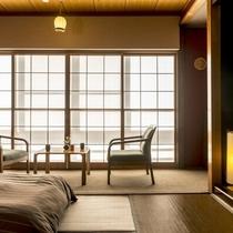 【晴山荘/倶楽部ルーム】落ち着いたデザインでお二人での温泉宿滞在にオススメです