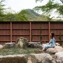 【小野川温泉街/湯めぐり】人気の共同露天風呂「小町の湯」当館宿泊者は無料でご入浴いただけます
