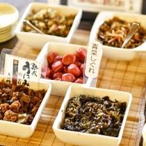 【郷土の味】ご飯のお供にも合う郷の味わいを数種類ご用意しています
