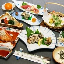 *アワビ付き会席一例/新鮮あわびがまるごと1個♪調理法はお好みでお選びいただけます。
