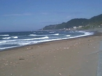 日本海 (直江津海岸には水族館もあります。車で40分)