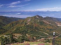 横手山山頂の眺望テラス