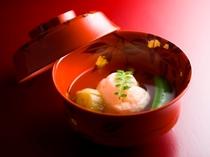 海老真薯 清汁仕立て/ご夕食イメージ(お献立は季節毎に替わります)