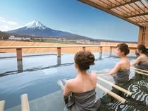露天風呂富士山(男女入れ替え)/鐘山苑の大浴場もお愉しみ下さい