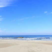 *【湯野浜海水浴場】当館からすぐ!雄大な日本海が広がります☆