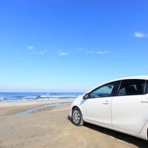 *【湯野浜海岸】雄大な日本海を眺めながらのドライブも気持ちいい♪