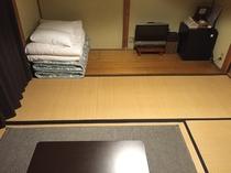 和室2人部屋 使いやすくコンパクトにまとめられた備品。
