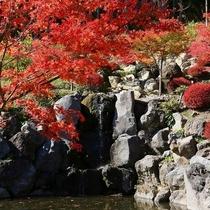 外観「秋」庭園を彩る滝