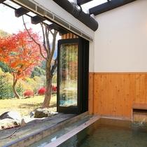 貴賓室半露天風呂「秋景」