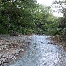 *夏油川/心洗われる景色。露天風呂からこの眺めをご覧いただけます!