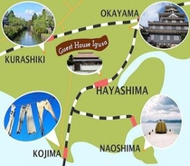 早島は周辺観光地のクロスポイント!アクセスが良いです