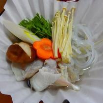 【冬の味覚会席】 てっちり小鍋