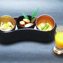 【黒潮会席】食前酒と前菜