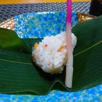 【冬の味覚会席】 カニちらし笹寿司